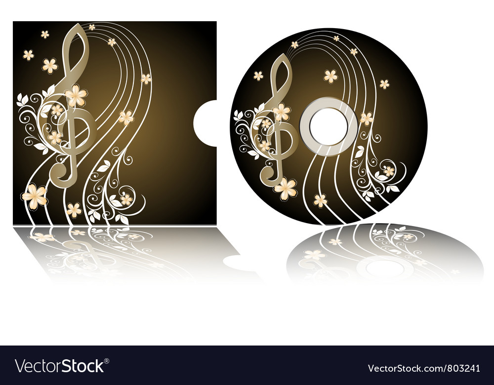 Cd label vector | Price: 1 Credit (USD $1)