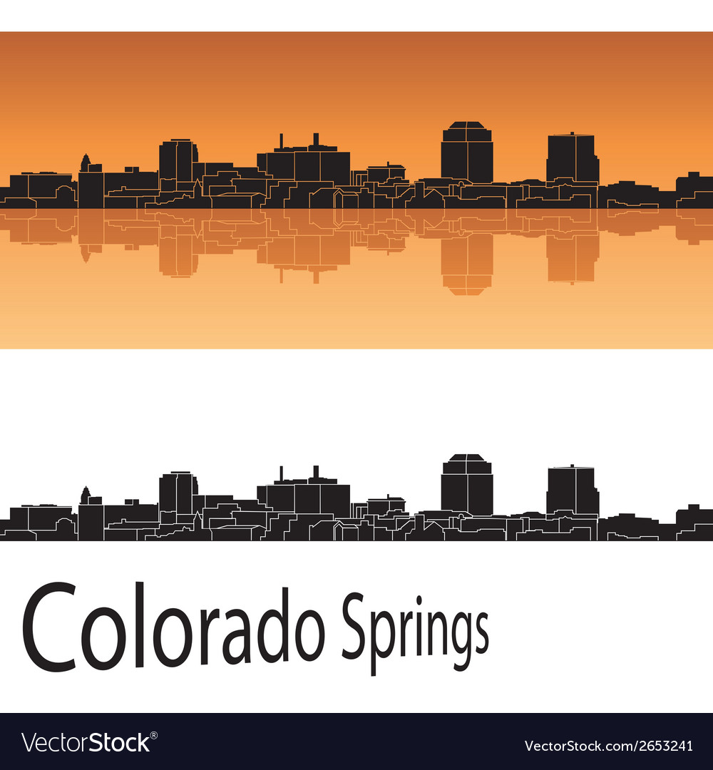 Colorado springs skyline vector | Price: 1 Credit (USD $1)