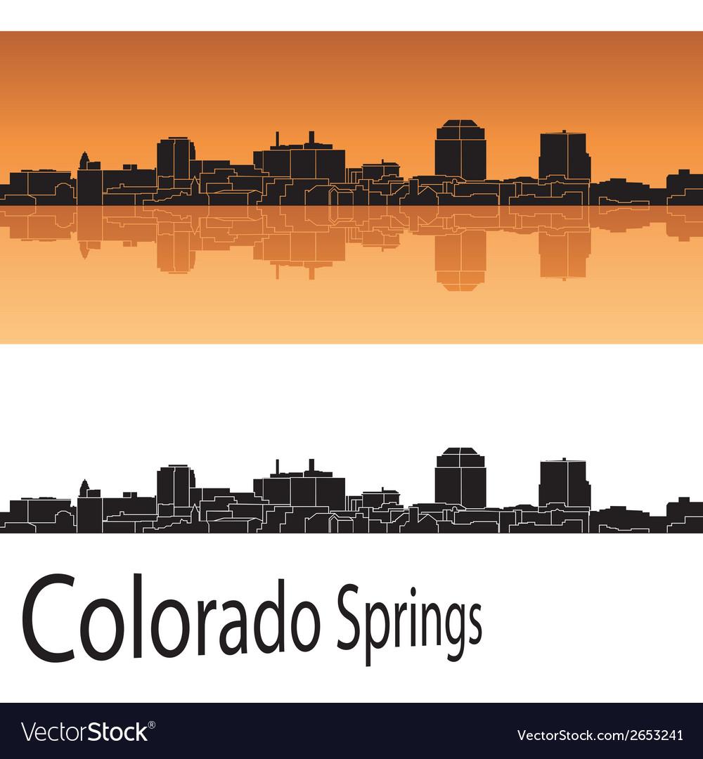 Colorado springs skyline vector | Price: 1 Credit (USD $1)