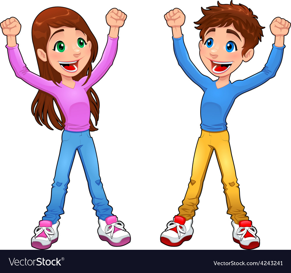 Enthusiast boy and girl vector | Price: 1 Credit (USD $1)