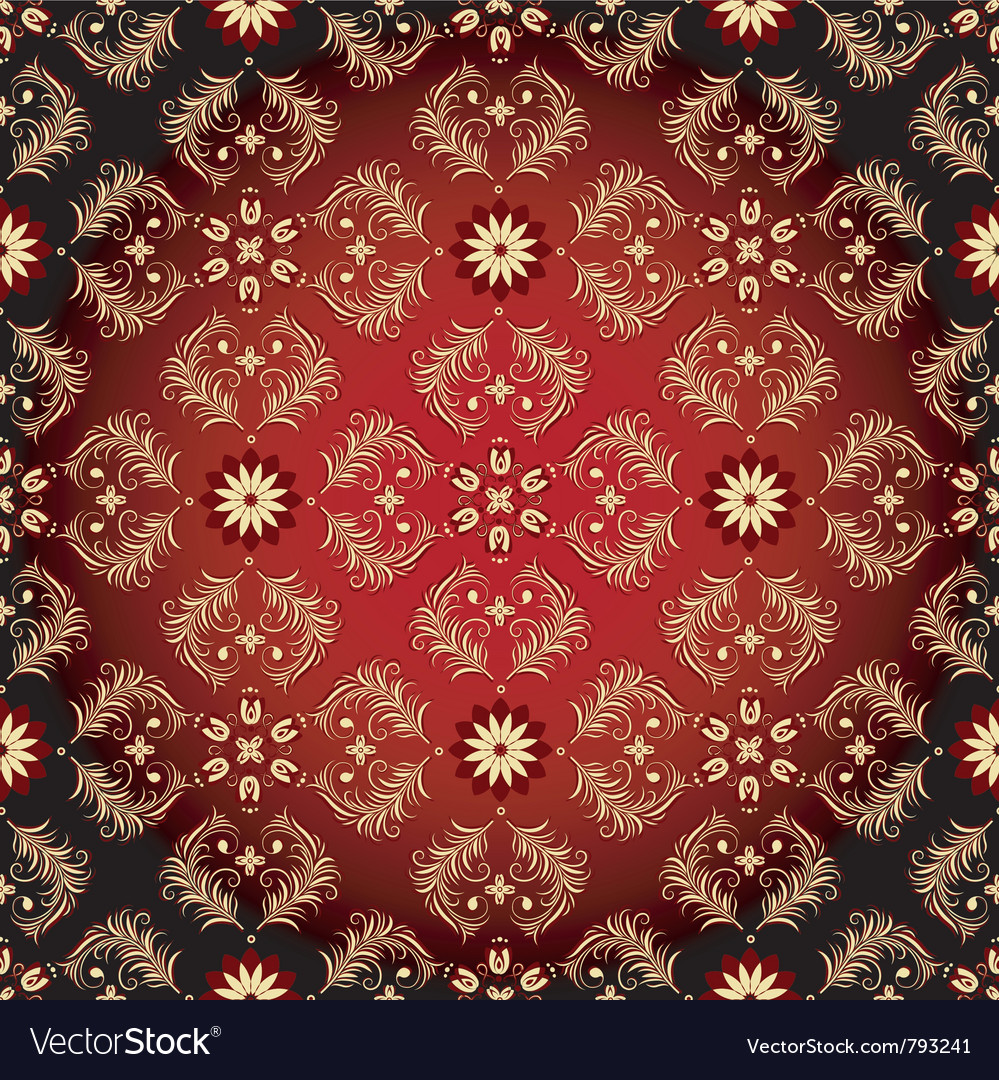 Seamless red-black-yellow pattern vector | Price: 1 Credit (USD $1)