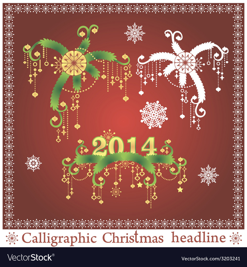 Set of christmas headlines vector | Price: 1 Credit (USD $1)