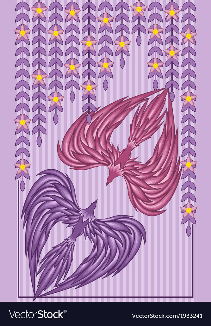 Two birds in love vector | Price: 1 Credit (USD $1)