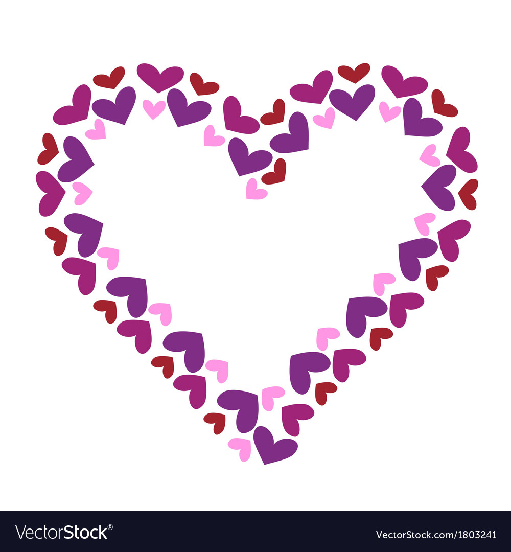 Valentine heart decorative frame vector | Price: 1 Credit (USD $1)