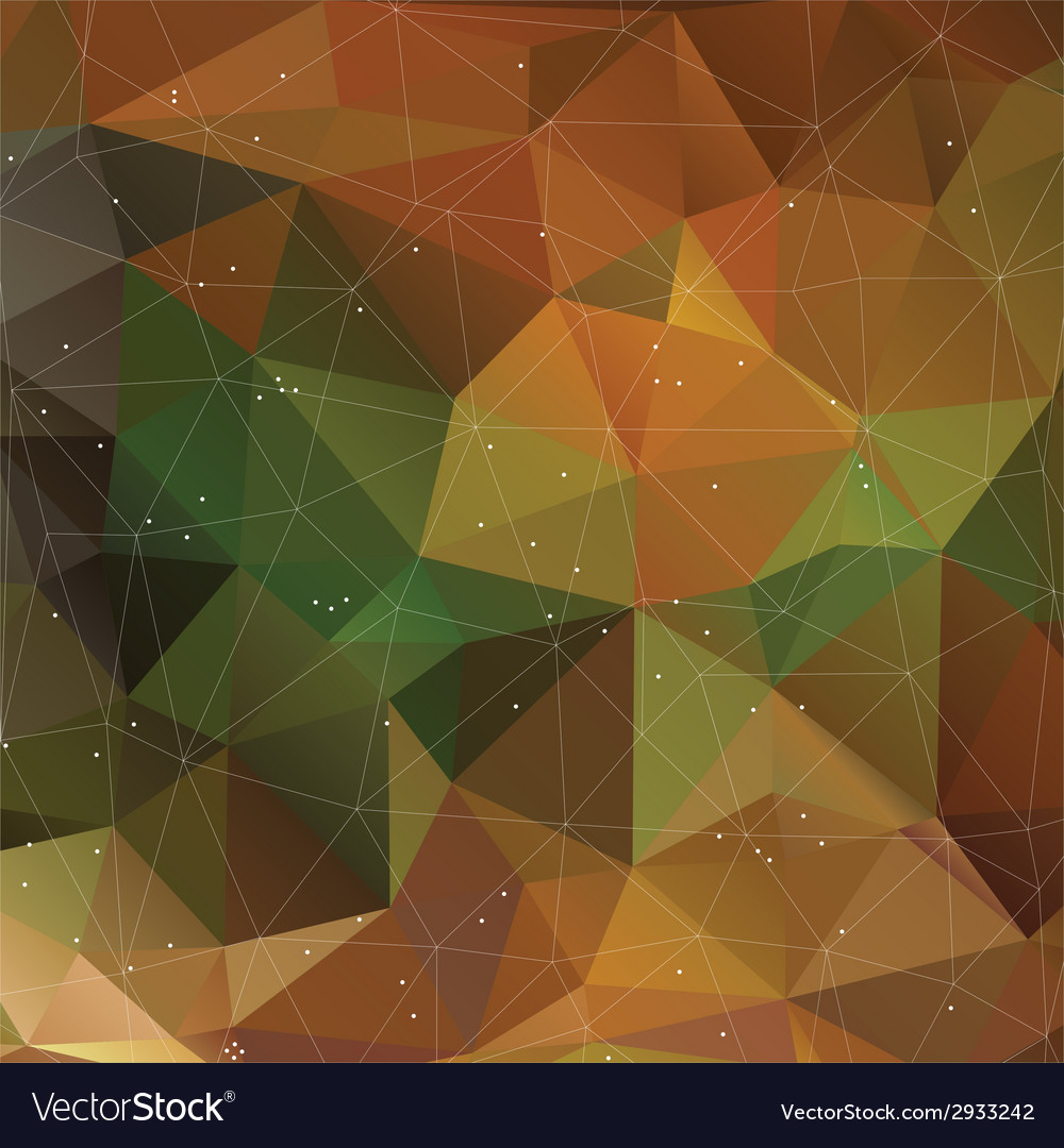 Autumn triangle pattern in dark colors background vector | Price: 1 Credit (USD $1)