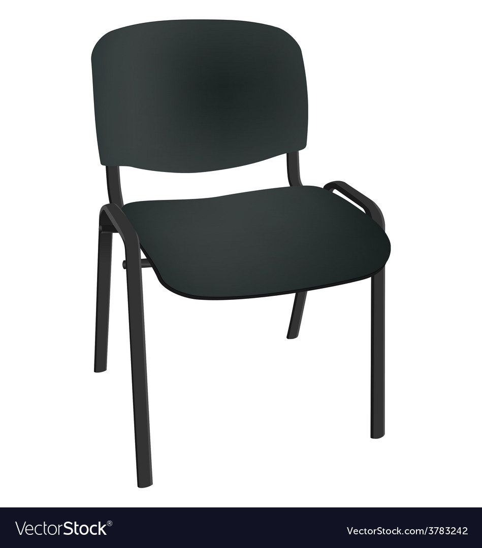 Black office single chair isolated on white vector | Price: 1 Credit (USD $1)
