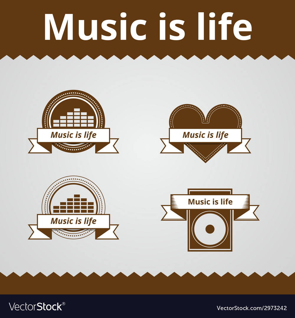 Conceptual icons for music vector | Price: 1 Credit (USD $1)