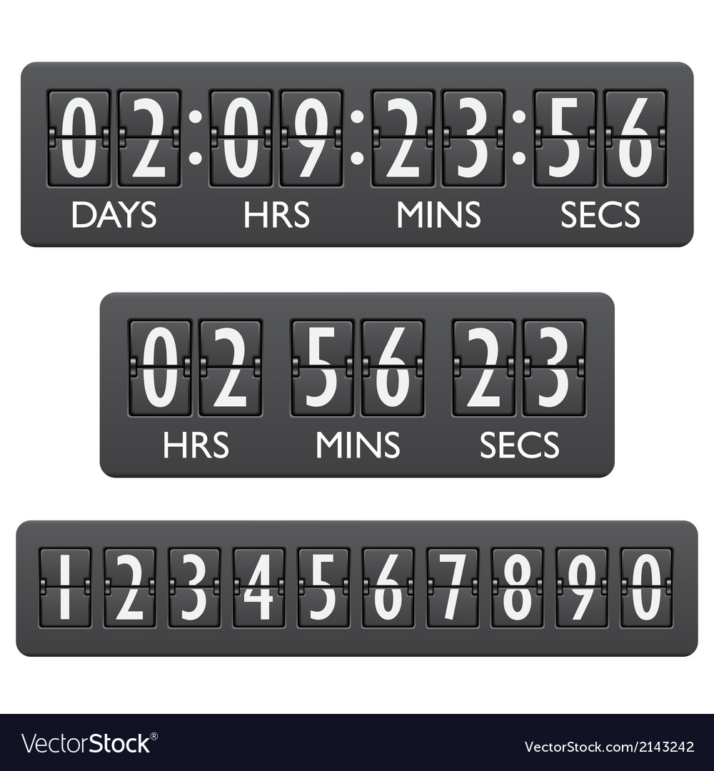 Countdown timer emblem vector | Price: 1 Credit (USD $1)