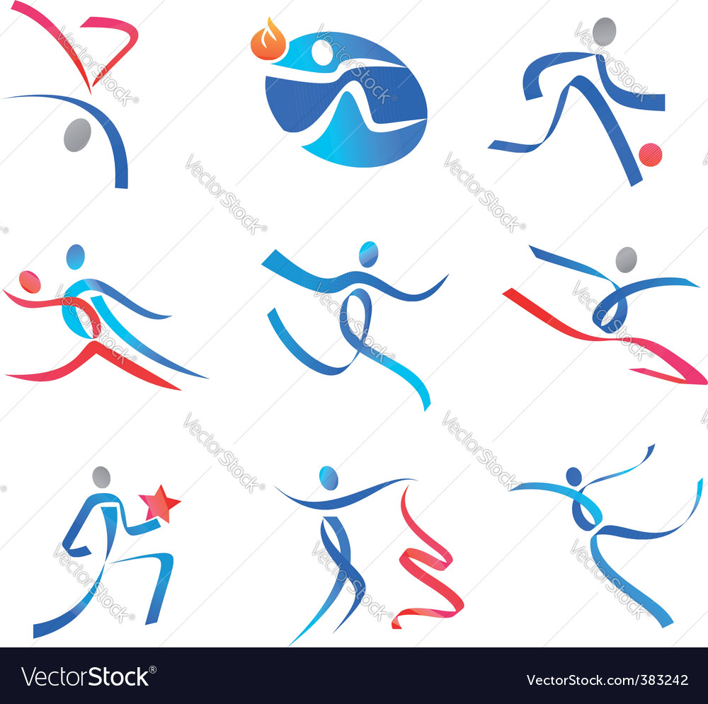 Dancing people and sportsmen vector | Price: 1 Credit (USD $1)