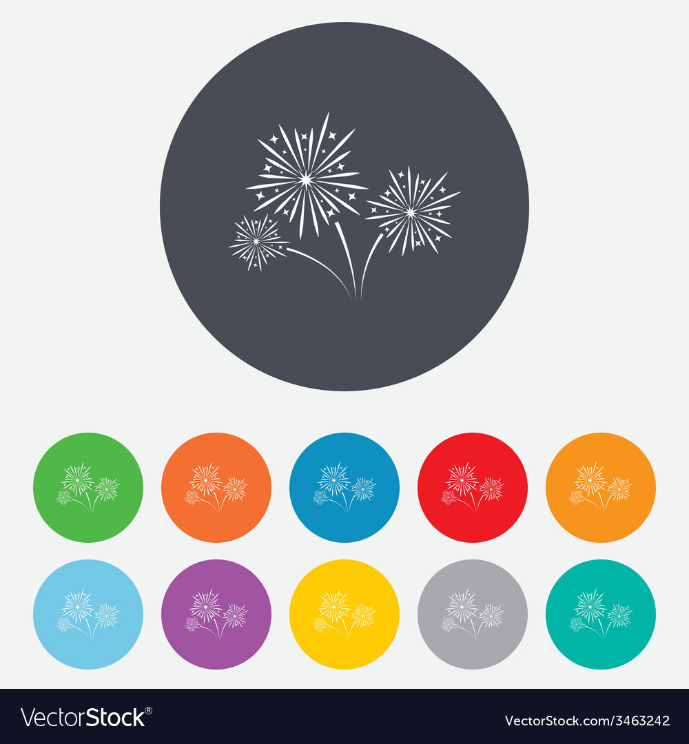 Fireworks sign icon explosive pyrotechnic show vector   Price: 1 Credit (USD $1)