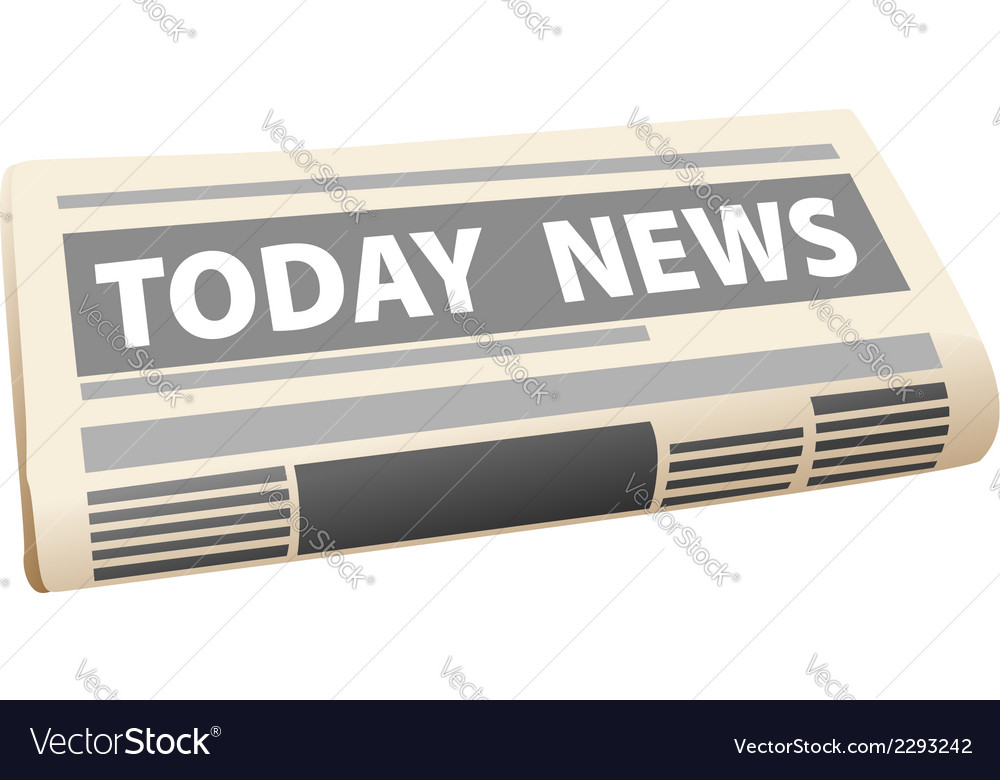 Folded newspaper with the header todays news vector | Price: 1 Credit (USD $1)