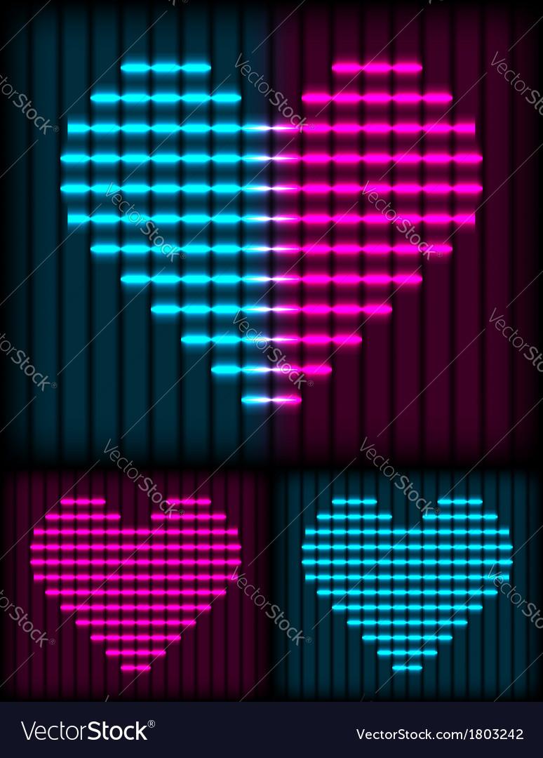 Neon heart background vector | Price: 1 Credit (USD $1)