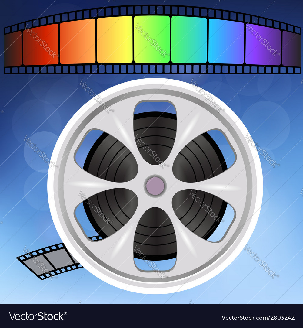 Old film strip vector | Price: 1 Credit (USD $1)