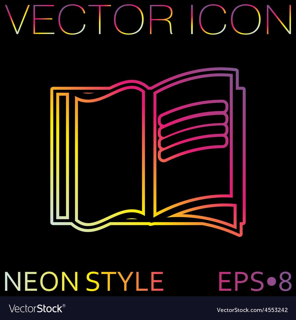 Open book icon vector   Price: 1 Credit (USD $1)