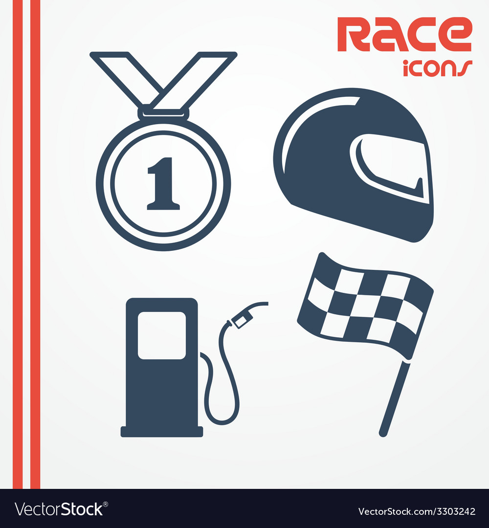 Race icons vector | Price: 1 Credit (USD $1)