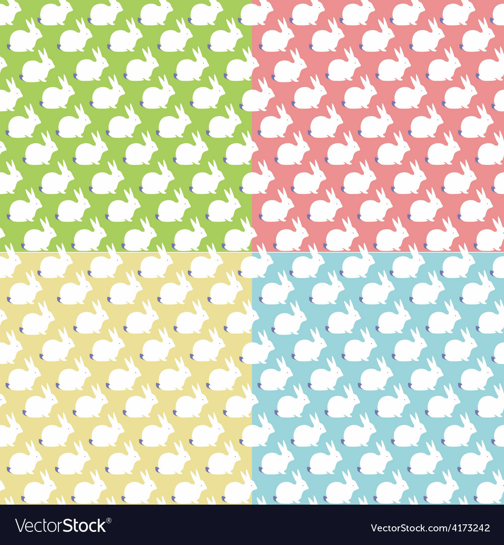Seamles patterns with bunny vector | Price: 1 Credit (USD $1)