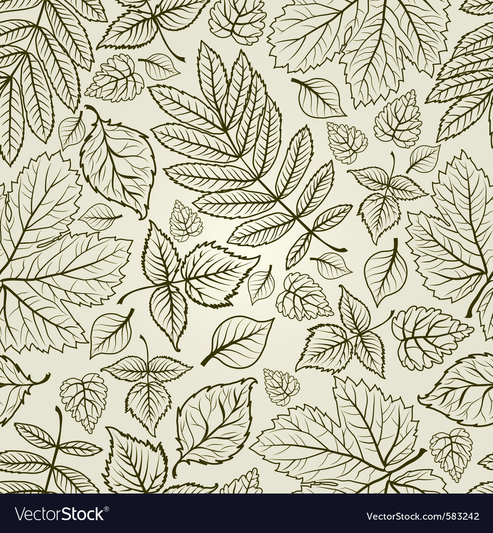 Seamless grunge autumn leaves background thanksgiv vector | Price: 1 Credit (USD $1)