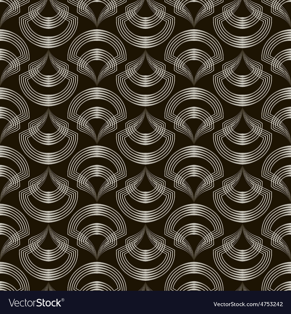 Seamless pattern sylish ornament geometric vector | Price: 1 Credit (USD $1)