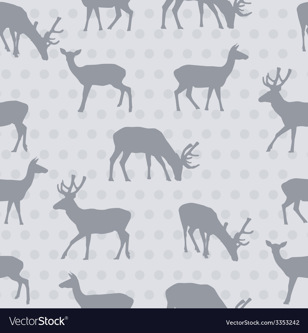 Seamless pattern with deer vector | Price: 1 Credit (USD $1)