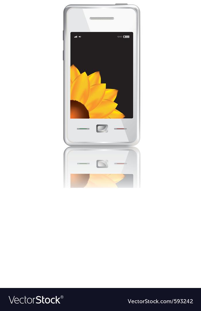 Touchscreen smartphone vector   Price: 1 Credit (USD $1)