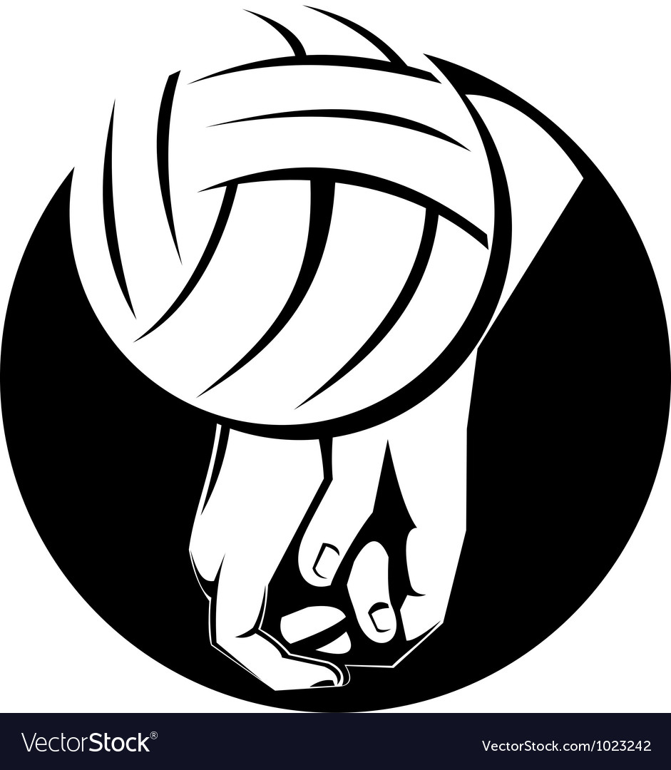 Volleyball player hitting ball vector | Price: 1 Credit (USD $1)