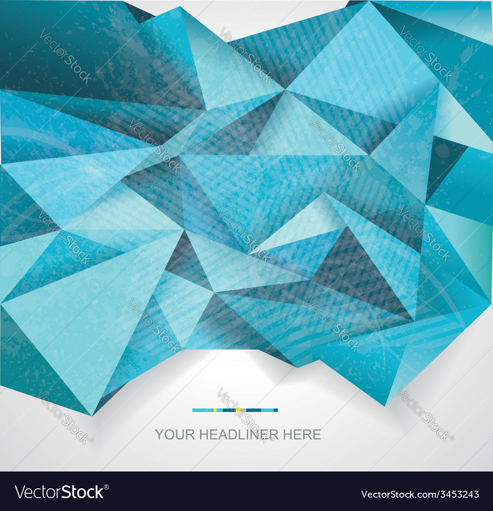 Abstract geometrical background polygonal design vector | Price: 1 Credit (USD $1)