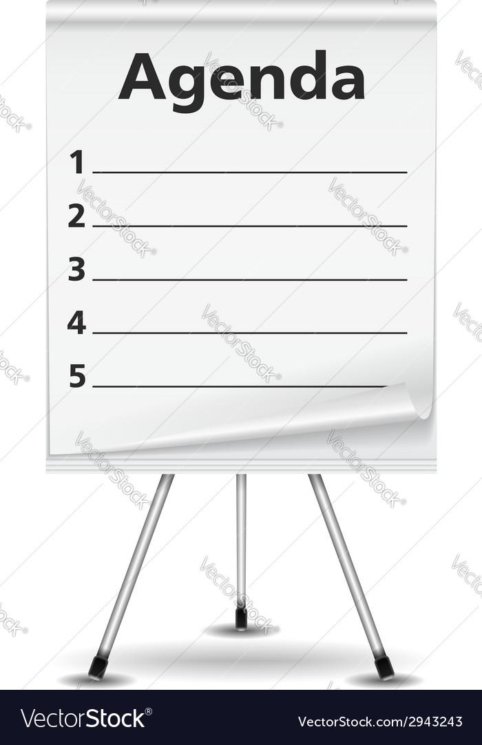 Agenda vector | Price: 1 Credit (USD $1)