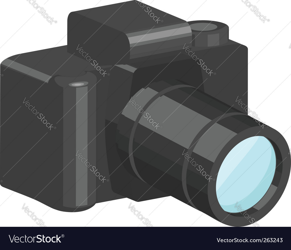 Camera illustration vector | Price: 1 Credit (USD $1)