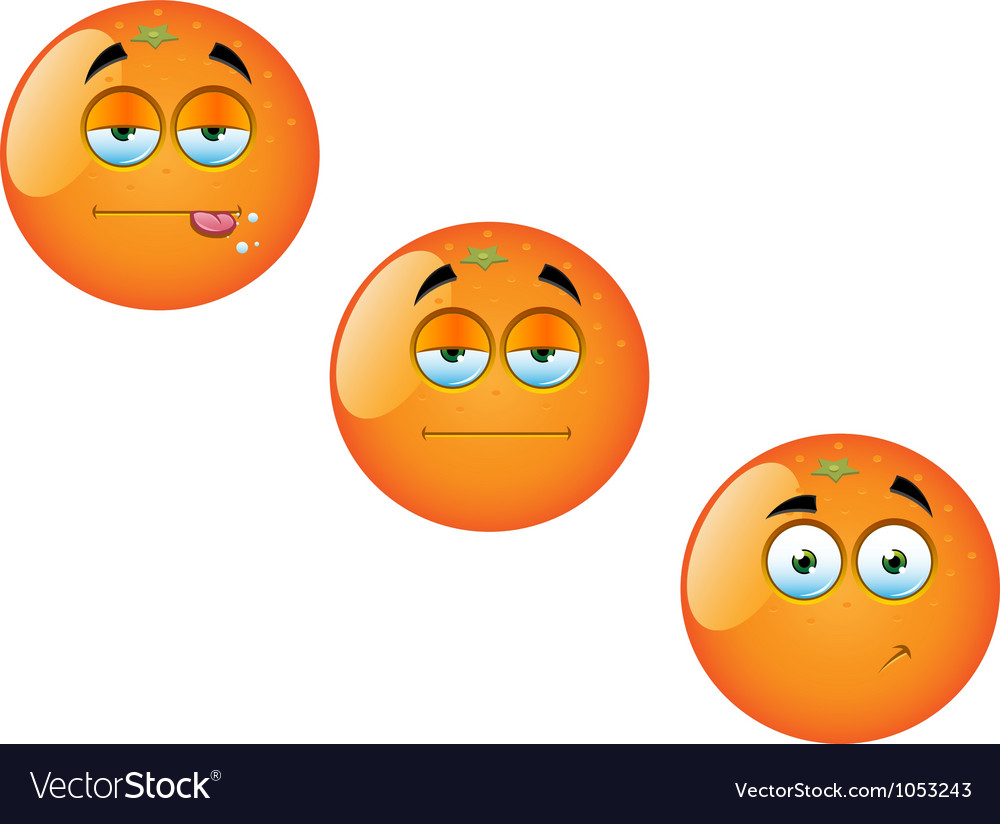 Cartoon orange fruit set 1 vector | Price: 1 Credit (USD $1)