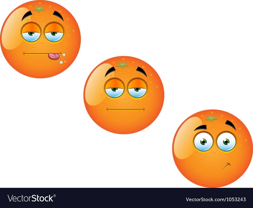 Cartoon orange fruit set 1 vector | Price: 1 Credit (USD $1)