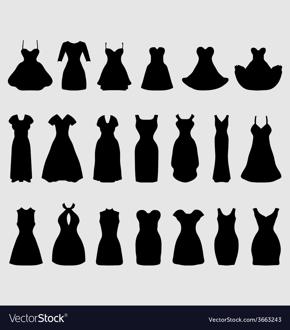 Cocktail dresses vector   Price: 1 Credit (USD $1)