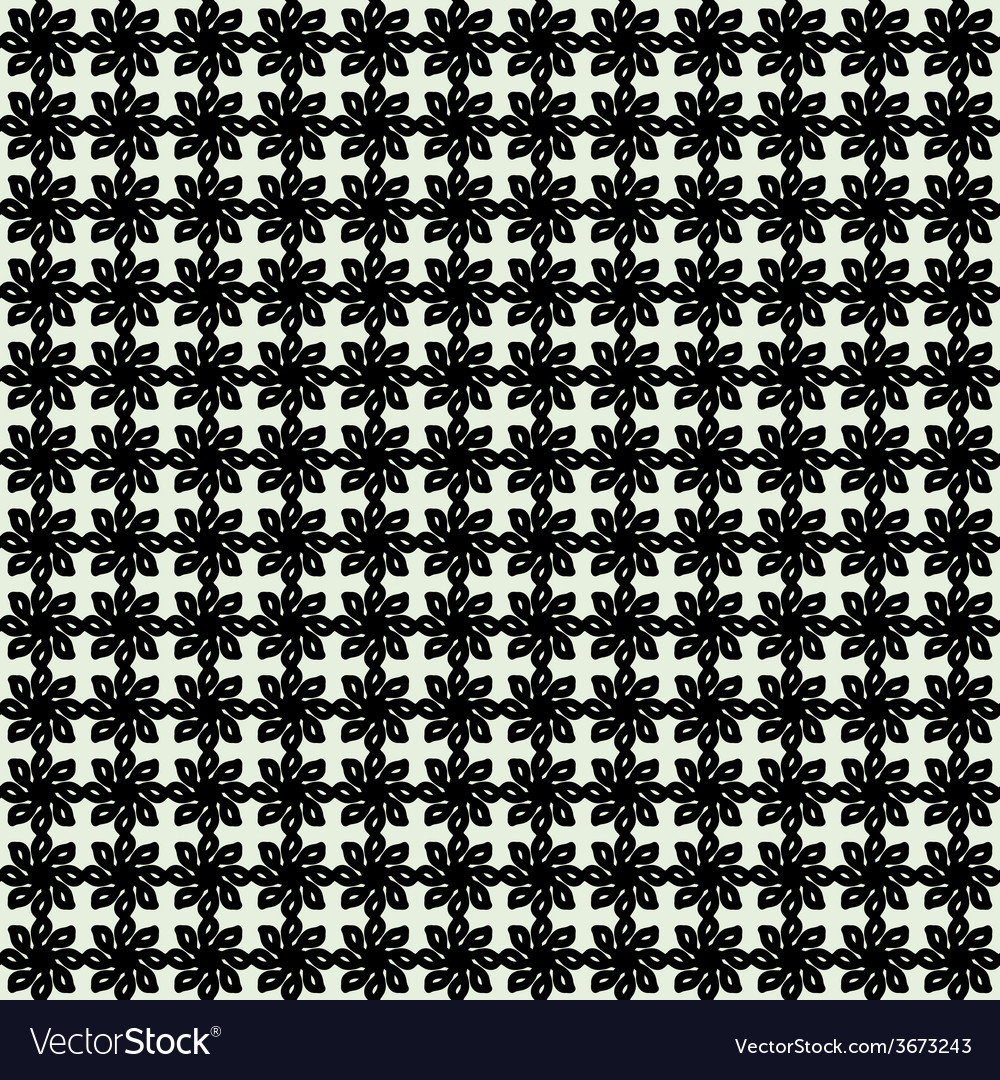 Floral seamless pattern geometric background vector | Price: 1 Credit (USD $1)