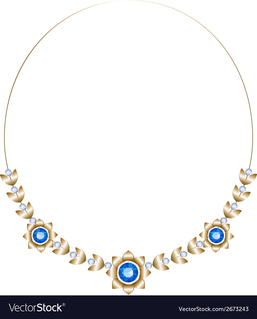 Gold necklace vector | Price: 1 Credit (USD $1)