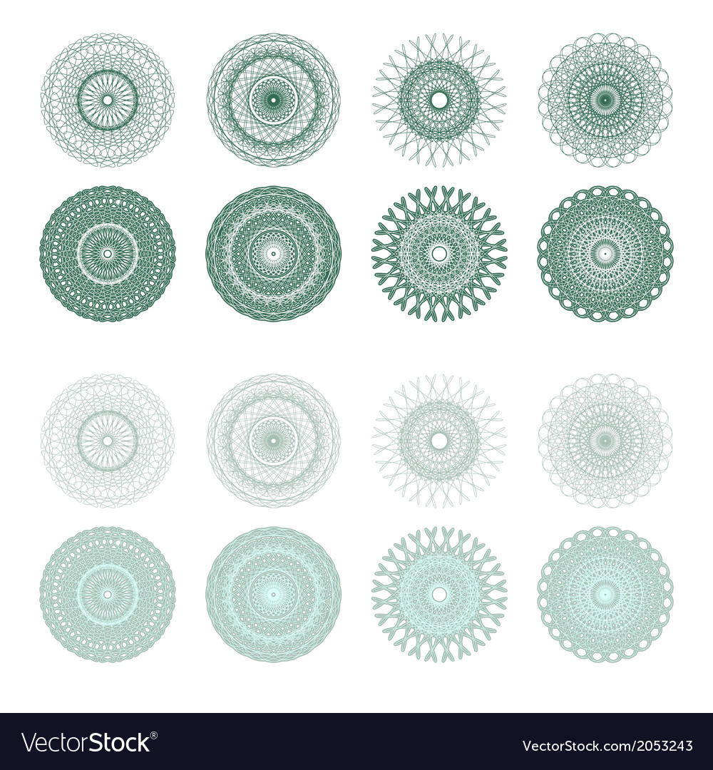 High quality rossete elements vector | Price: 1 Credit (USD $1)