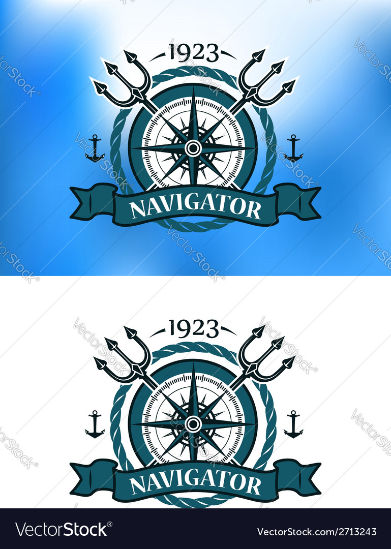 Marine heraldic label vector | Price: 1 Credit (USD $1)