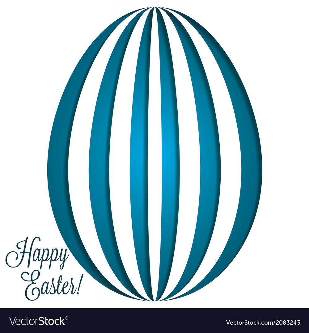 Paper cut out easter egg card in format vector | Price: 1 Credit (USD $1)