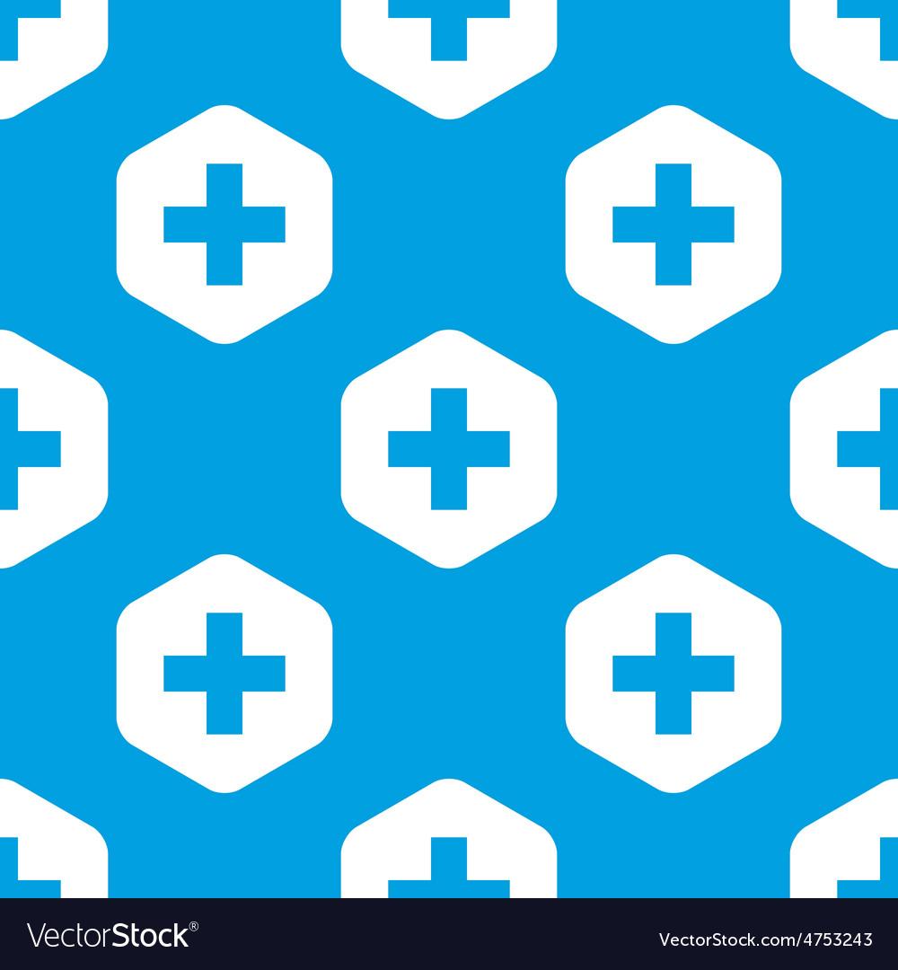 Plus hexagon pattern vector | Price: 1 Credit (USD $1)