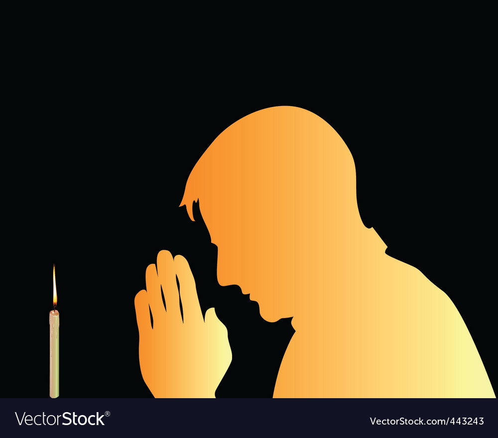 Prayer and candle background vector | Price: 1 Credit (USD $1)