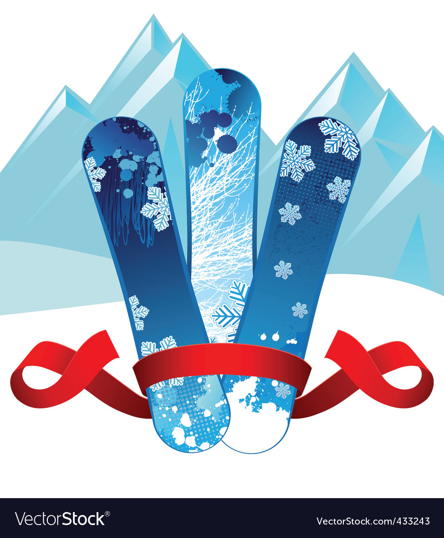 Snowboards background vector | Price: 1 Credit (USD $1)