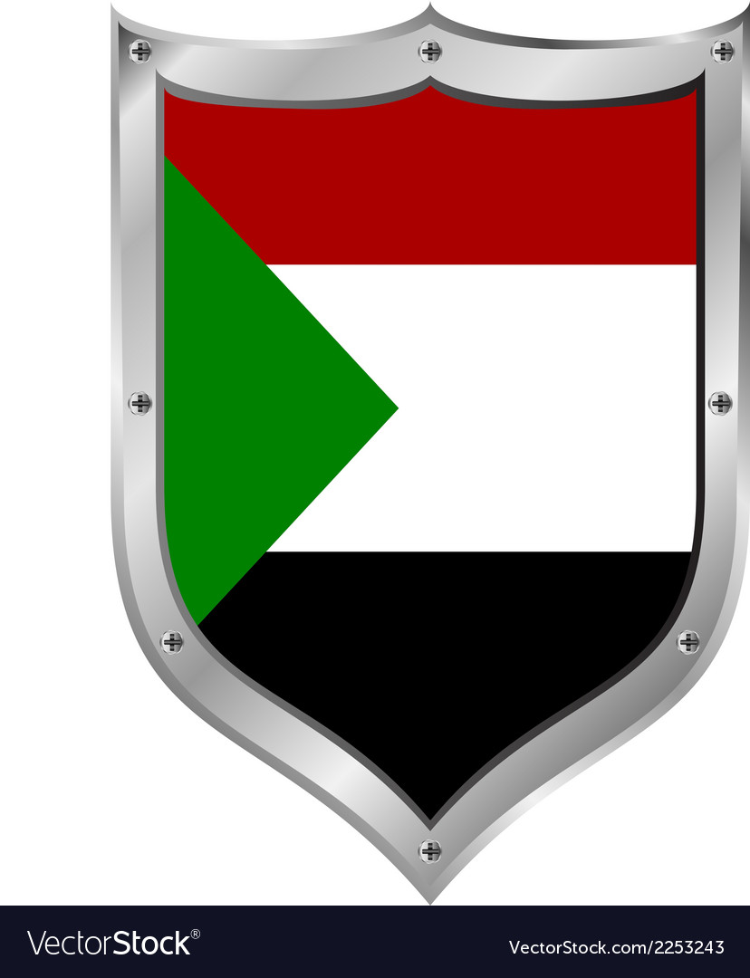 Sudan flag button vector | Price: 1 Credit (USD $1)