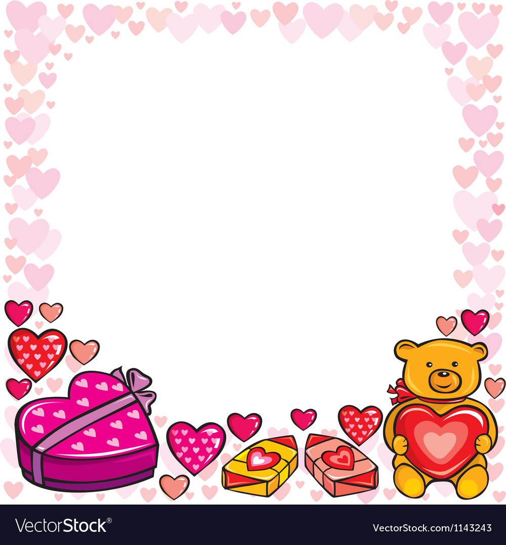 Valentines day frame vector | Price: 1 Credit (USD $1)