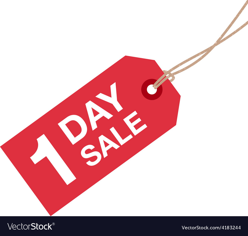 1 day sale sign vector | Price: 1 Credit (USD $1)