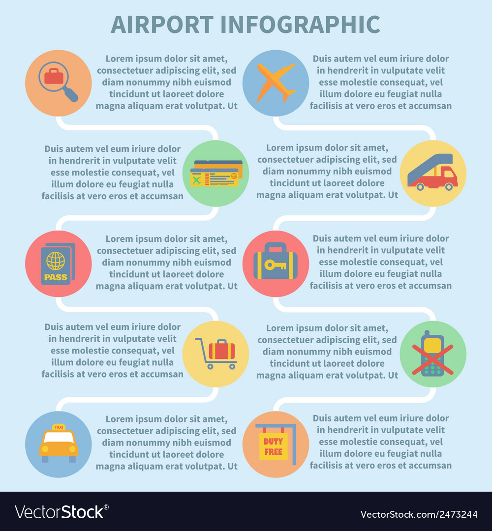 Airport infographic set vector | Price: 1 Credit (USD $1)