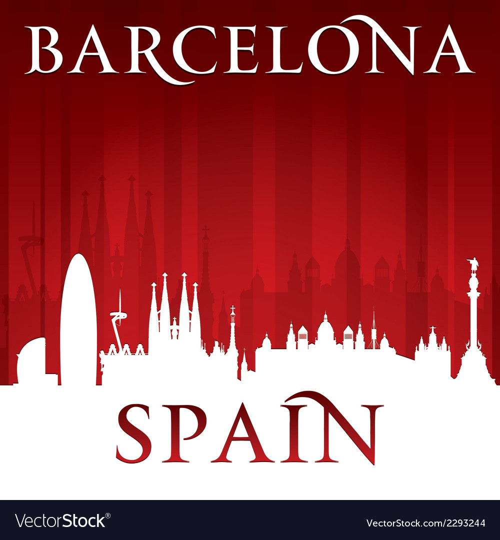 Barcelona spain city skyline silhouette vector   Price: 1 Credit (USD $1)