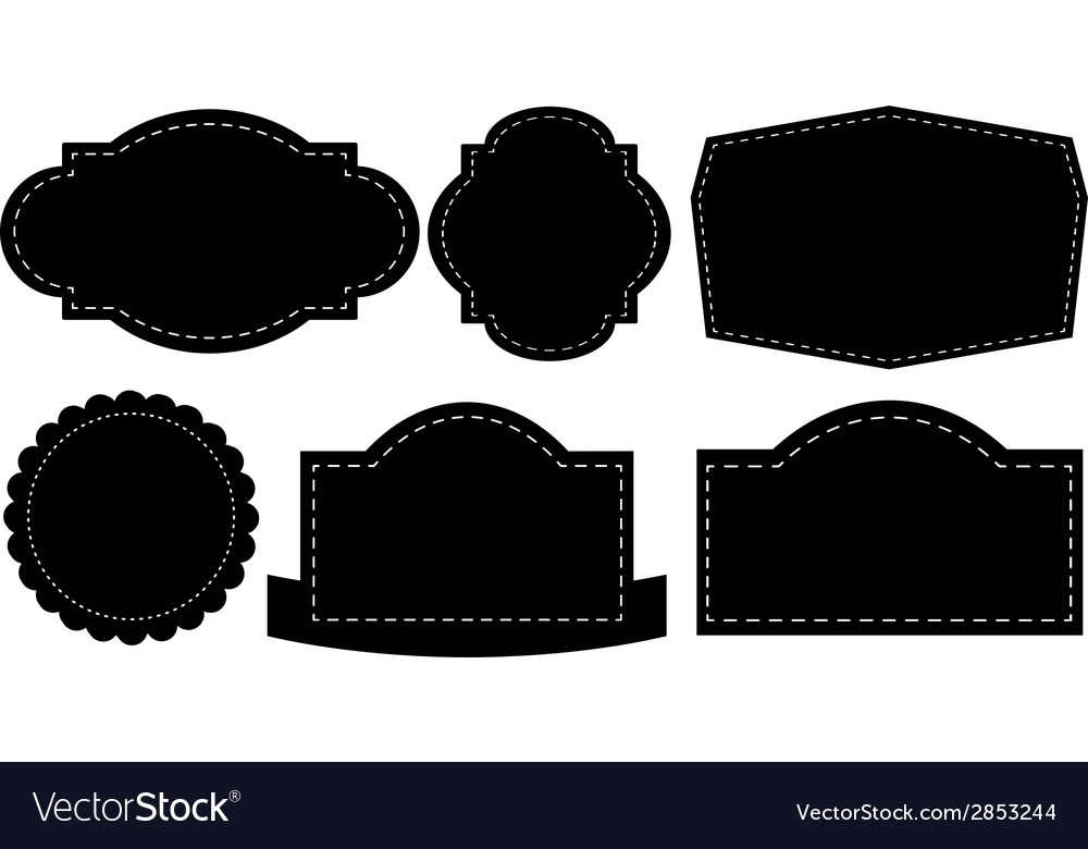 Black labels vector | Price: 1 Credit (USD $1)