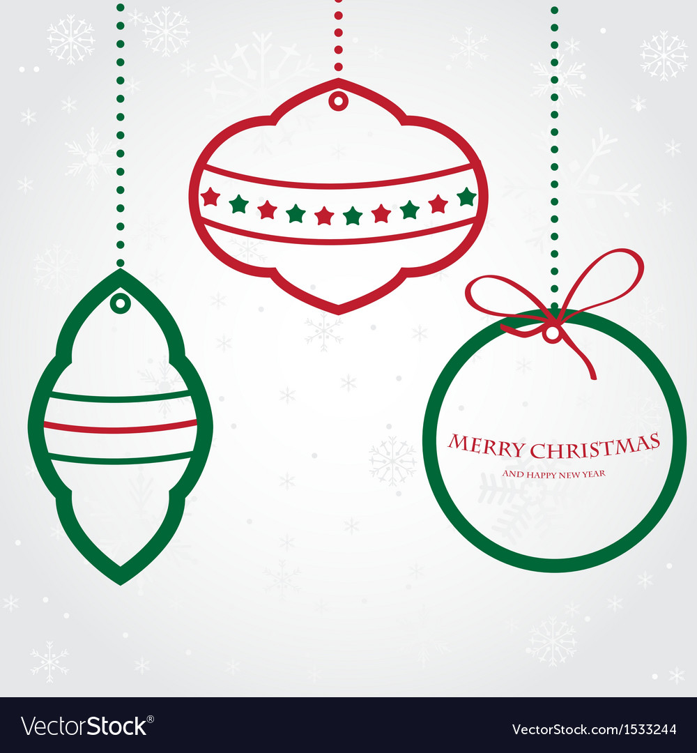 Christmas set of fir tree and evening balls new vector | Price: 1 Credit (USD $1)