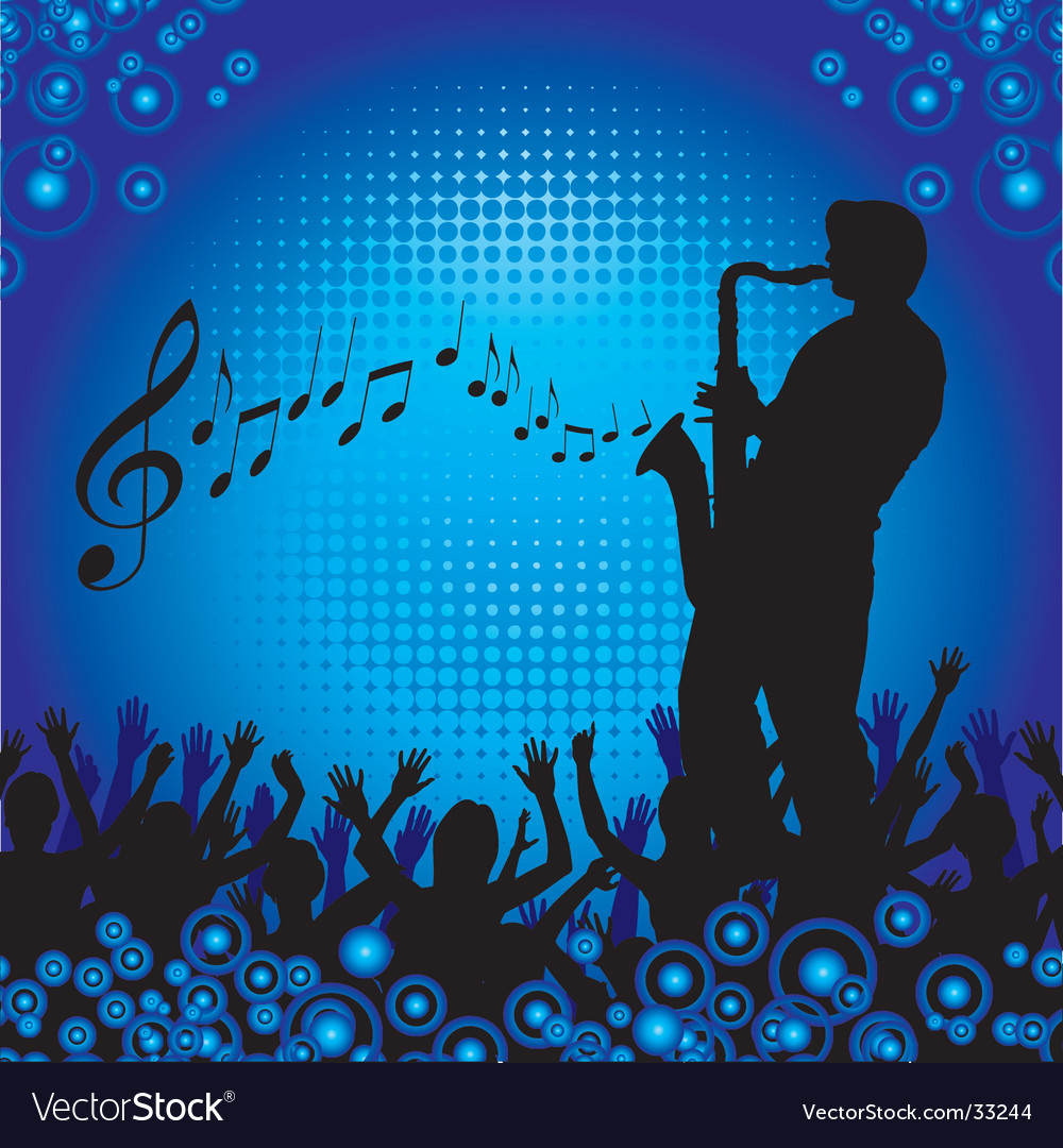 Circles crowd hands sax vector | Price: 1 Credit (USD $1)