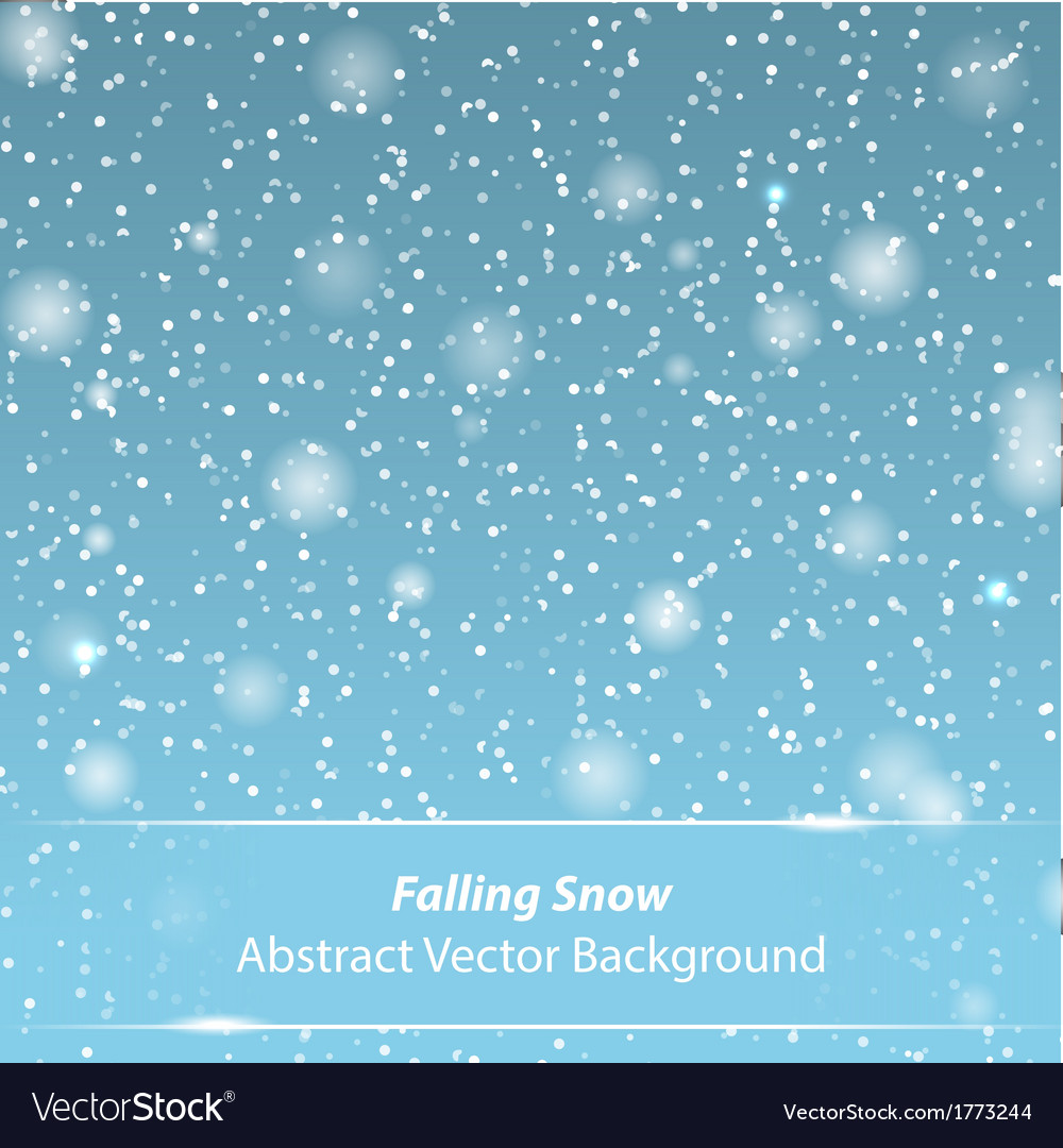 Falling snow background vector | Price: 1 Credit (USD $1)