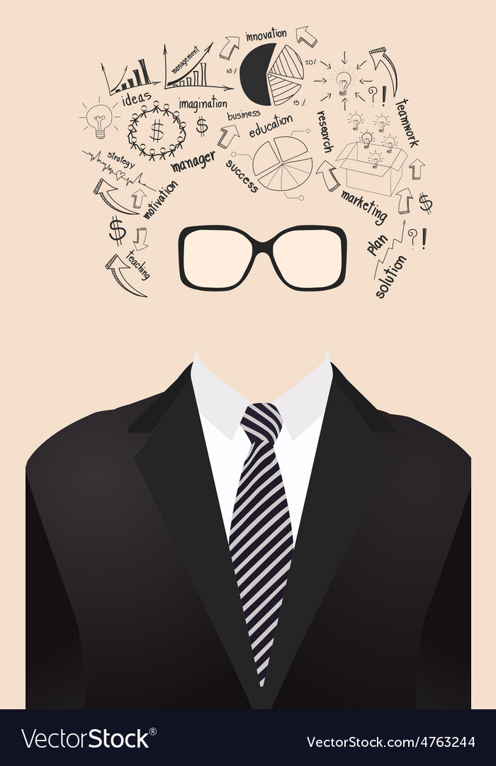 Human face is made up of with drawing business vector | Price: 1 Credit (USD $1)