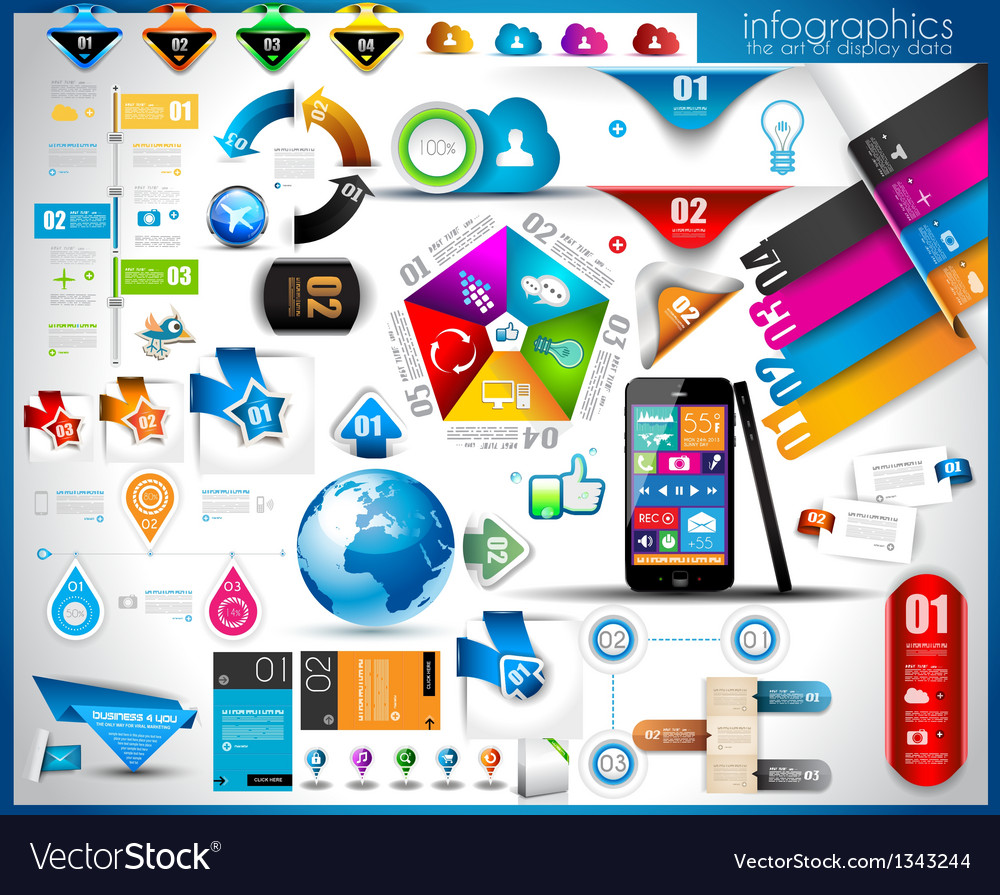 Infographic template vector | Price: 3 Credit (USD $3)